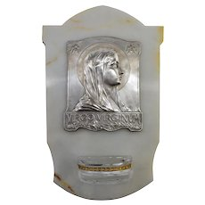 French Art Deco Virgin Holy Water, 1930s