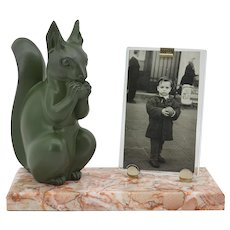 Marti FONT French Art Deco Squirrel Photo frame, 1930s