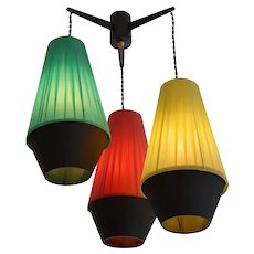 French Vintage Mid-century Ceiling-Light, 1950s