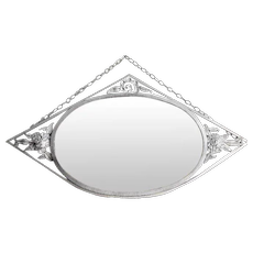 MORIN French Art Deco Wrought-iron Wall Mirror 1930s