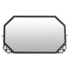 French Art Deco Wrought-iron Mirror 1930
