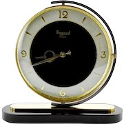 French Art Deco Swiveling Clock by Bayard 1930s