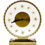 French Art Deco Star Clock by Bayards 1930s