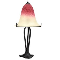 Charles SCHNEIDER Large French Art Deco Table Lamp, 1924-1928