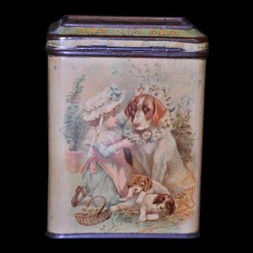 Carr & Co. Juvenile No. 1 Biscuit Tin 1895