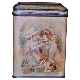 Carr & Co. Juvenile No. 1 Biscuit Tin 1895