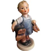 142/0 Goebel Hummel Shoe Boot Boy Figurine