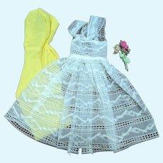 Barbie 987 Orange Blossom Yellow Dress Lace Overdress