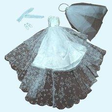 Barbie Tagged  972 Wedding Day 1960s Dress Veil Accessories
