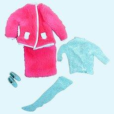 Barbie 1813 Snug Fuzz 1968 Pink Suit Metallic Blouse