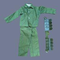 Vintage GI Joe Green Beret Outfit Jacket Pants Ammunition Belt 7566