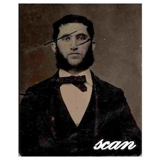 Tintype Ferrotype Well Dressed 19th Century Man AS IS