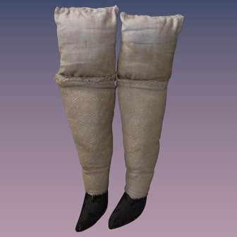 Christmas Sale PR Cloth Legs with Shoes for Antique Doll Body