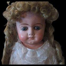 "Christmas Sale 23"" Papier Mache Glass Eye German Doll"
