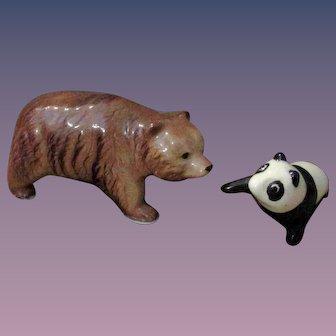 Christmas Sale PR China or Glass Animal Brown Bear Panda