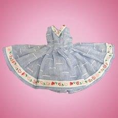 Christmas Sale Vogue Jill Doll Sleeveless Dress Blue Heart Trim