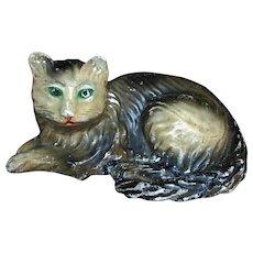Large 1930s 1940s Chalkware Chalk Kitty Cat