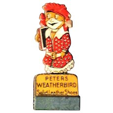 """2.75"""" Peters Weatherbird Solid Leather Shoes Token Sign"""