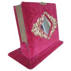 Christmas Sale Fold Out Standing Rose Velvet Victorian Photo Album