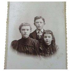 Victorian Cabinet Photo Photograph Card 3 Children