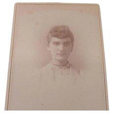 Victorian Cabinet Photo Photograph Card Girl Woman
