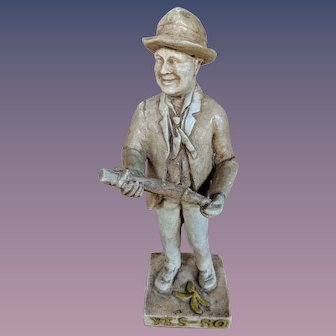 19th Century Plaster Political Banana Yes No Party Figure Figurine