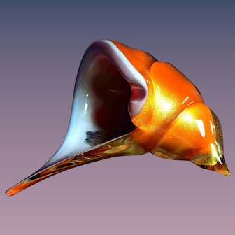 Murano Glass Conch Seashell 1950s Alfredo Barbini