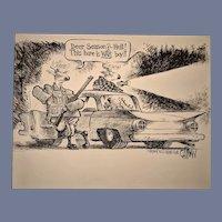 Original Political Black and White Cartoon Art by David Catrow
