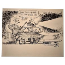 Original Political Black and White Cartoon Art by David Catrow