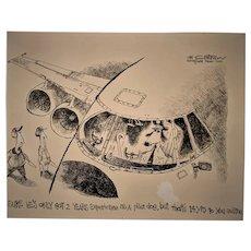 David Catrow Original Black and White Art Political Cartoon