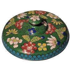 "4"" Vintage Chinese Cloisonne Round Box"