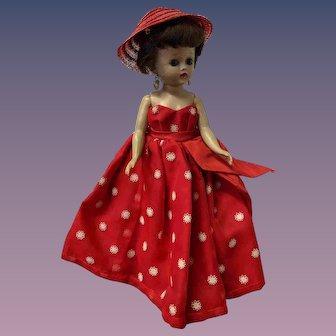 "10"" Jill Vogue Fashion Doll Brunette Red Formal Dress"