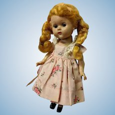 Coquettish Vogue Ginny Doll Blond Pigtails Dress