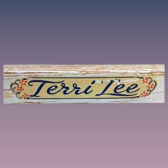 22 x 18 Terri Lee Brand Wooden Doll Clothes Rack
