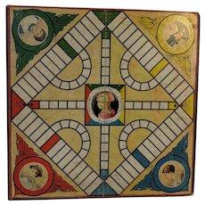 1915 Vintage Parker Brothers Pollyanna Game Board