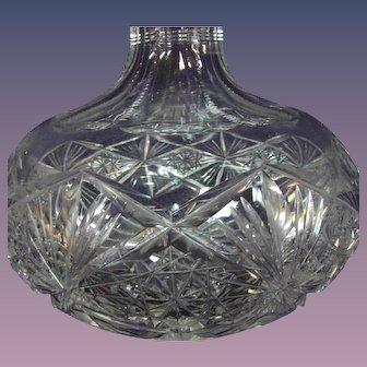 "7"" Victorian Hawkes Palmero Cut Wine Carafe Decanter"