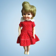 Vintage Deluxe Reading Corp Penny Brite Doll Red Dress