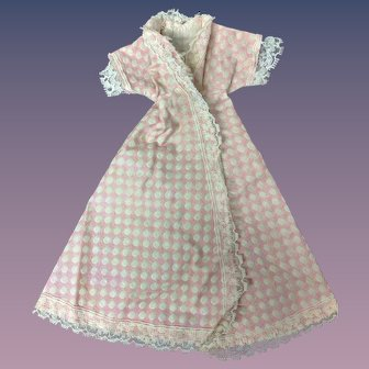 "Jill or other 10"" Fashion Doll 1950s Pink Polka Dot Cotton Robe"