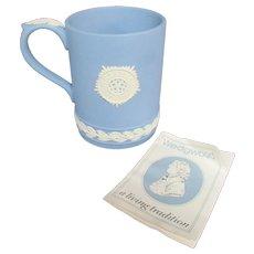 "4.5"" Blue White Wedgwood Jasperware Mug Cup Piccadilly Circus 1971"