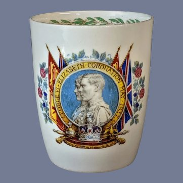 "4"" Vintage George VI King 1937 Coronation Cup"