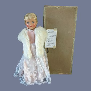 "17"" Blonde Arranbee Nancy Lee Doll Original Box Restored Dress"