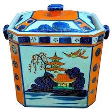 """7"""" Moriyama Biscuit Trinket Box with Lid Japan"""