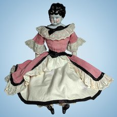 "23"" Antique Bubble Head Low Brow China Doll"