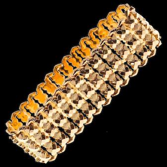 18k Rose Gold Retro Hinged Link Bracelet
