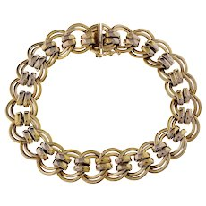 14k Yellow Gold Italian Link Bracelet