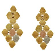 Rose Yellow 14 Karat Gold Dangle Earrings