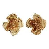 Tiffany & Co 14k Yellow Gold Fireworks Earrings
