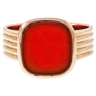 Men's  Carnelian 14k Rose Gold Ring