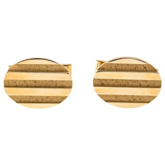 Tiffany & Co Solid 18k Yellow Gold Oval Cufflinks