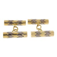 Tiffany & Co 18k Yellow White Gold Double Sided Cufflinks